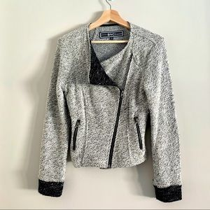 BNCI by Blanc Noir asymmetrical marled jacket coat